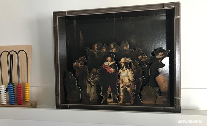 kinderboek over kunst, Nachtwacht, Rembrandt, 3D