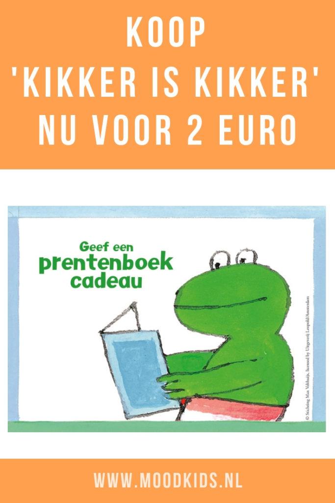 Vanaf 5 april is het prentenboek 'Kikker is kikker' te koop voor 2 euro bij bijna alle boekhandels in Nederlands tijdens 'Geef een prentenboek cadeau' 2019.