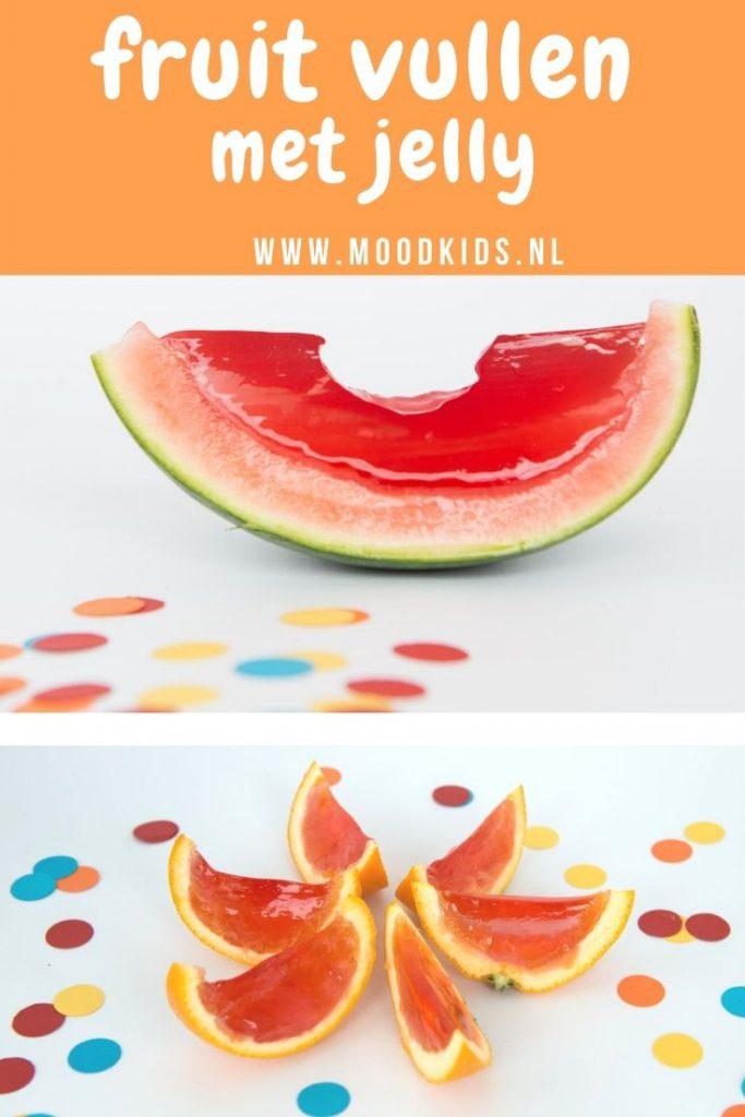 Is jouw kind dol op jelly? Denk dan eens aan fruit vullen met jelly. Heel makkelijk en leuk om te doen!